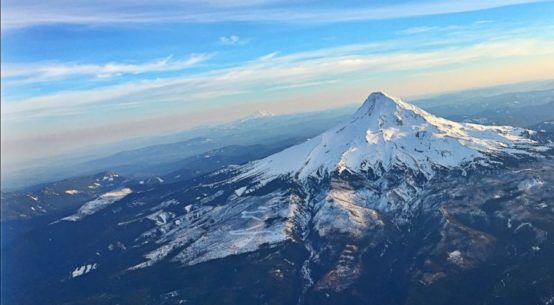 Mount Hood taken from the air